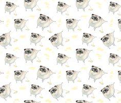 Pee Pilates - Peeing Pugs fabric by inkpug on Spoonflower - custom fabric
