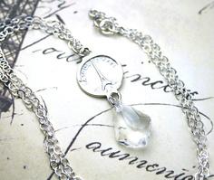  parisian coin necklace.  Notre Dame on reverse! Love