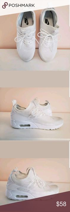 8977d39a3ef Nike Wmns Air Max 90 EZ Ease Triple White Nike Wmns Air Max 90 EZ Ease  Triple White Women Running Shoes Sneaker AO1520-100 Size 9