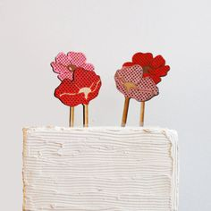 Poppin Flower Cake Topper by ByMadelineTrait on Etsy
