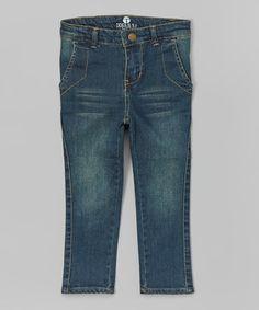 Denim Dark Blue Sideline Slim Jeans - Toddler & Boys by Troy James #zulily #zulilyfinds