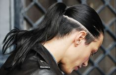 undercut hair ponytail - Google Search