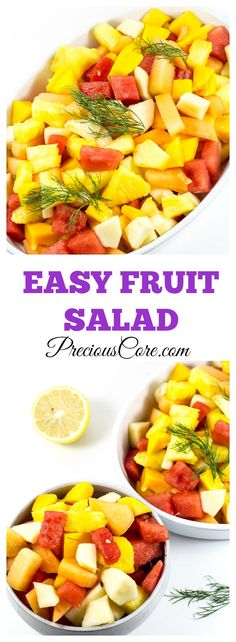 Easy fruit salad recipe. Perfect for parties or for healthy snacking!