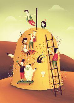 Haystack fun by Paula Rusu, via Behance