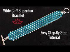 Wide Cuff Superduo Bracelet. How to Make DIY Beaded Bracelet? - YouTube