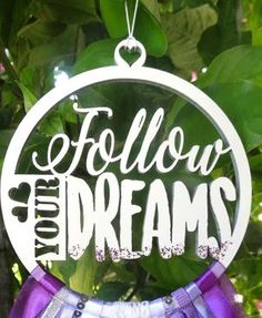 Handmade Follow your Dreams Purple Dreamcatcher Dream Catcher, Dreaming Of You, Bedroom Ideas, Bedding, Nursery, Dreams, Christmas Ornaments, Purple, Holiday Decor