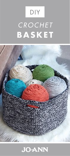 This winter, break out your crafting skills by making this DIY Crochet Basket for your living room. Whether you choose them to store your knitting supplies or magazines, or use them simply for decor, there are many reasons to love these handmade organizing containers.