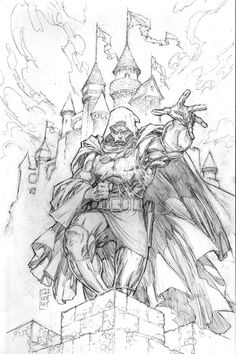 Dr. Doom Pencils by Marc Silvestri
