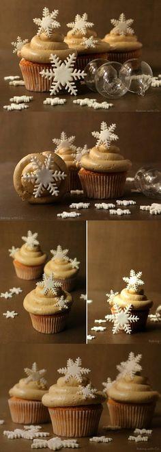 Cupcakes de turrón navideños / http://bakingwithco.blogspot.com.es/