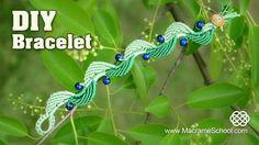 Wavy Macramé Leaf & Blueberry Bracelet Tutorial