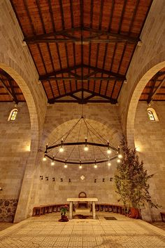 The Church of the Multiplication of the Loaves and the Fishes in Tabgha, on the shore of the Sea of Galilee, Israel