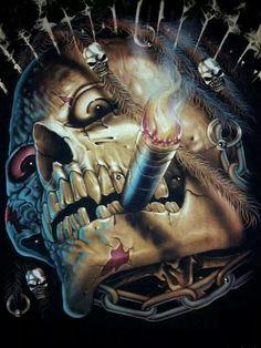Dark Fantasy Art, Dark Art, Airbrush Art, Arte Black, Totenkopf Tattoos, Skull Pictures, Wild Pictures, Skull Artwork, Skull Wallpaper