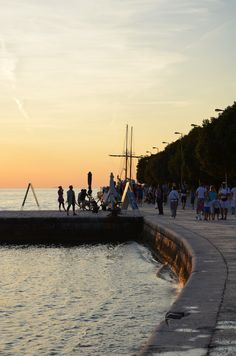 Zadar's sunset in Croatia. Copyright European Best Destinations. More about Croatia on this free and online travel guide: http://www.europeanbestdestinations.com/travel-guide/zagreb-and-croatia
