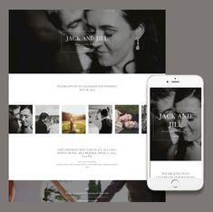 Responsive wedding template from ItSoEzi the online website builder that needs no coding.