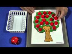 """Apple Roll and Pick"" Math Game"