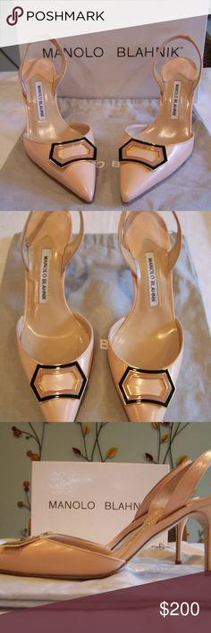 Manolo Blahnik Blush Slingback Heels Worn once, great condition. Size 38 IT/ 8 US, heel, Blush, Pointed Toe. Comes with box and dust bag. Crazy Shoes, Me Too Shoes, Shoe Boots, Shoes Heels, Shoes World, Luxury Shoes, Manolo Blahnik, Beautiful Shoes, Ideias Fashion