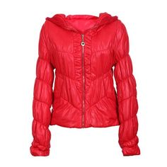Modern Style Hooded Long Sleeves Special Grain Solid Color Cotton Blend Padded Jacket For Women