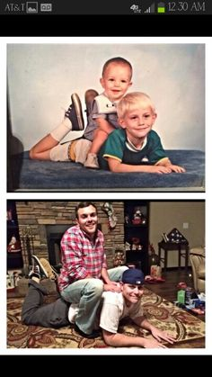 Nailed it lol! Recreating childhood photo with your sibling/sibling's. Awesome idea.