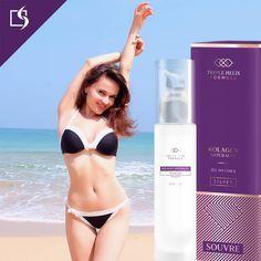 Kolagen naturalny pomoże przywrócić Twojej skórze odpowiednie nawilżenie po kąpieli słonecznej! #souvre #kobieta #słońce #plaża #pielęgnacja