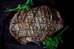 Not only does this recipe feature maximum eye appeal for a fat steak, but the method of scoring a steak is one of the easiest ways to get big flavor in little time. My girlfriend…