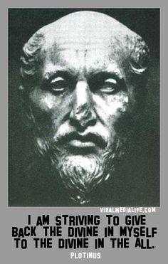 I am striving to give back the... Plotinus - http://goo.gl/sKuNnE