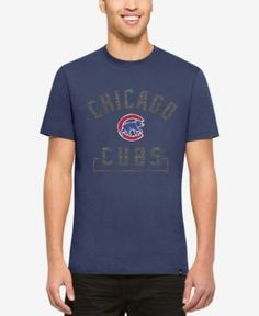 '47 Brand Men's Chicago Cubs Mixed Fieldhouse T-Shirt - Blue XXL