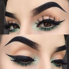 I wish I could pull off really dark hair so I could rock dark brows like this