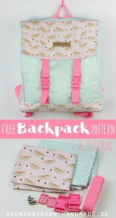 Free Backpack Pattern & Tutorial | Seemannsgarn                                                                                                                                                                                 More