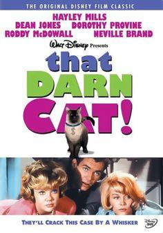 "HAYLEY MILLS, DEAN JONES, DOROTHY PROVINE, RODDY McDOWALL, NEVILLE BRAND and FRANK GORSHIN in the Disney film ""THAT DARN CAT!"" (1965)."