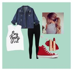 """""""Date Night?"""" by bearsesh ❤ liked on Polyvore featuring Boohoo and Converse"""