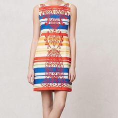 Tabitha Banded Totem Shift Dress