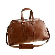 J. Crew Montague leather weekender