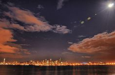 (The most amazing place I have ever seen.).Seattle city skyline from West Seattle