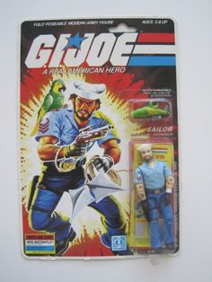 "Shipwreck, the G.I.Joe sailor that came with parrot ""Polly,"" from the 1985 series of the G.I.Joe toy line"