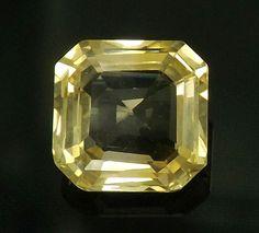 5.16 ct Unheated Beautiful  Natural Yellow Sapphire Ceylon Nice Octagon Z103 #Unbranded
