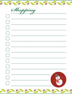 Nice lists to help you conquer holiday stress