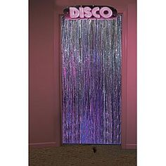 Use the Disco Door Topper to create a groovy party entrance. This 12' high x 40