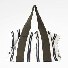 Borsa Diotima shopping bag in cotone e gros colore: bianco/verde