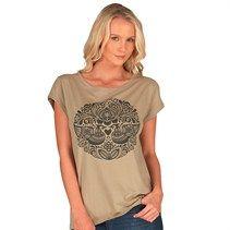 Animal Womens Ashar Graphic T-Shirt Khaki