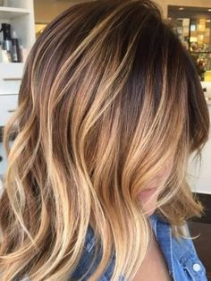 Honey Blonde and Brown Balayage