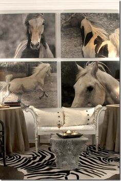 horse paintings in decorating   ... horse art makes a huge statement   Stylish Western Home Decorating
