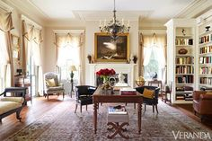 "Library, ""Birdsong"", Wadmalaw Island, vic. Charleston, South Carolina. Architect: Glenn Keyes, 2010. Photo: Veranda magazine, September 2014."