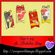 Digital Scrapbooking Freebies, St Nicholas Day, Kit, Tags, Design