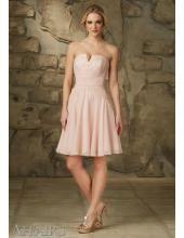 Mori Lee Affairs Liebes Kurzes Brautjunfernkleid - Style 31062