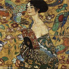 Klimt Peacock Victorian Woman