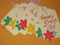 10 Gift Tags Tidings of Comfort and Joy with by Judyscrafts