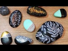 She Paints Beautiful Designs On Rocks And Shares Some Great Tips. Watch! - DIY Joy