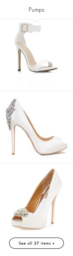 """Pumps"" by luciaborrayo on Polyvore featuring shoes, pumps, heels, high heels, strap shoes, strappy shoes, strap high heel shoes, strap heels shoes, strappy high heel shoes y white bridal shoes"