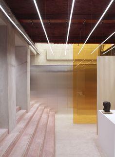 translucent colored glass partition #vidrio #glass #vidro