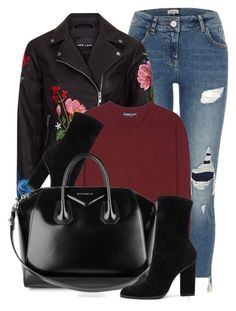 """""""Flower Detail"""" by monmondefou ❤ liked on Polyvore featuring River Island, Dolce&Gabbana, Alexander Wang and Givenchy"""